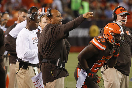 Coach Hue Jackson went against the grain — and bucked conventional NFL wisdom — in the Browns' preseason finale Thursday.