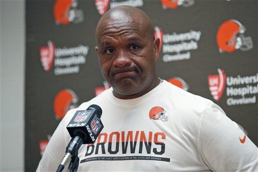 BEREA -- Coach Hue Jackson didn't envision his Browns tenure starting like this.