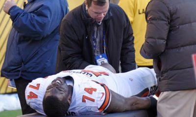 Offensive lineman Cameron Erving got good news regarding his injured left knee.
