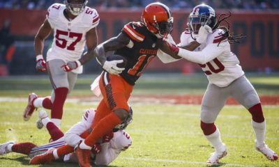 CLEVELAND -- The battle between Browns receiver Terrelle Pryor and Giants cornerback Janoris Jenkins didn't end when New York wrapped up its 27-13 victory Sunday at FirstEnergy Stadium.