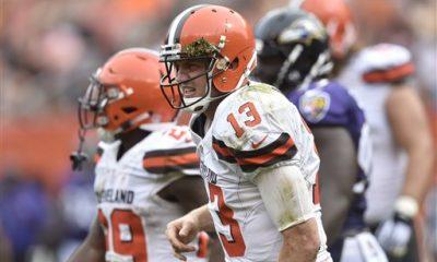 BEREA -- Browns quarterback Josh McCown has a broken left collarbone
