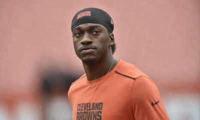 BEREA -- Quarterback Robert Griffin III finished a drill