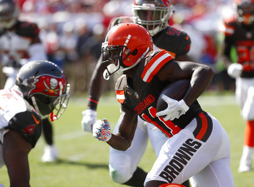 f9b6ef695165 BEREA — The Browns would really benefit if rookie receiver Antonio Callaway  can become a consistent force in the passing game and send a jolt through  the ...
