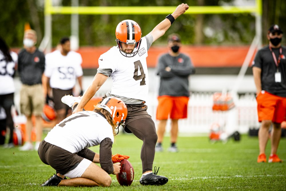 As Austin Seibert Jamie Gillan Stage Mullet Battle Browns Look For More Consistency From Both Plus Jolt To Return Game With Jojo Natson Brownszone With Scott Petrak